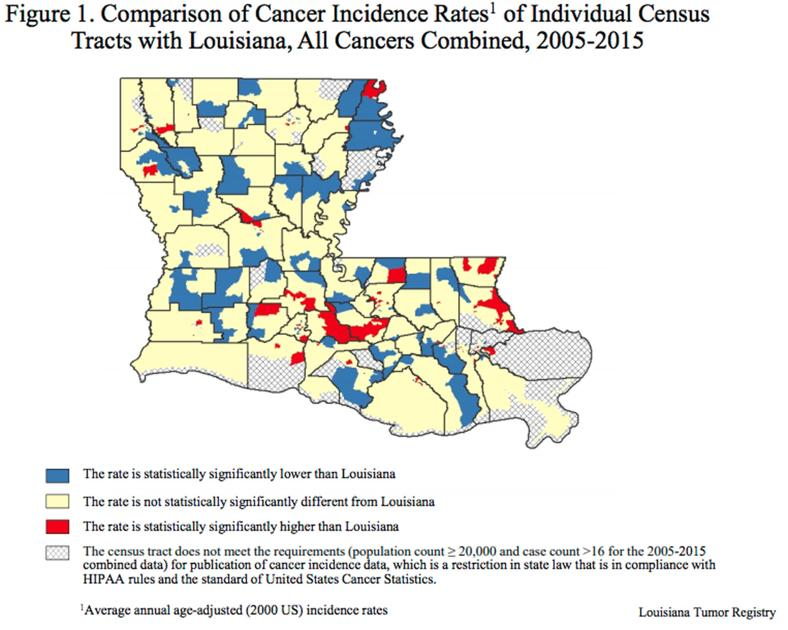 Report on Louisiana cancer rates finds 'results are mixed