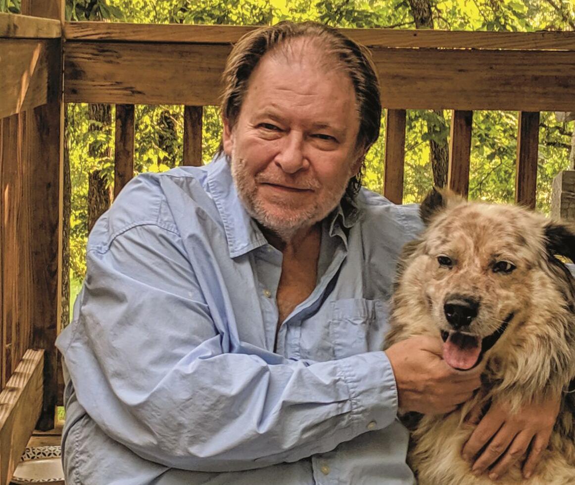 Rick Bragg and dog Speck