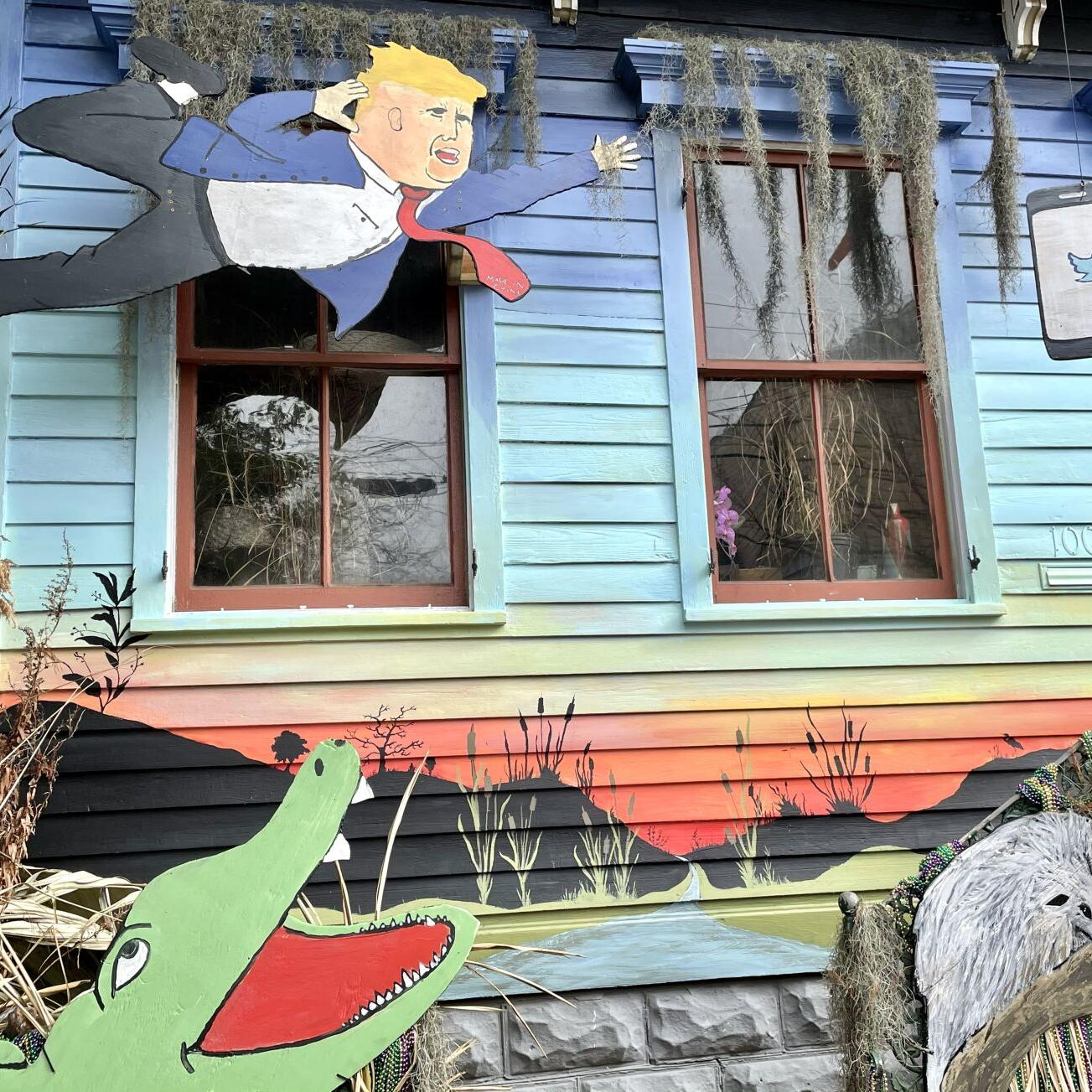 What Do Donald Trump Bernie Sanders And 3 Possums Have In Common They Share A Float House Mardi Gras Nola Com