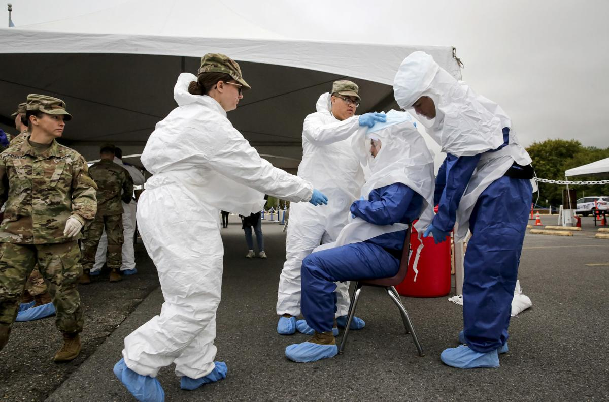 Coronavirus testing site in Westwego file photo stock