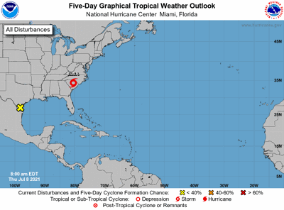 Tropical weather outlook 7am July 8