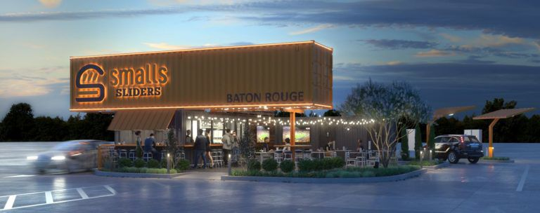 Drew Brees' latest play: selling burgers from a shipping container