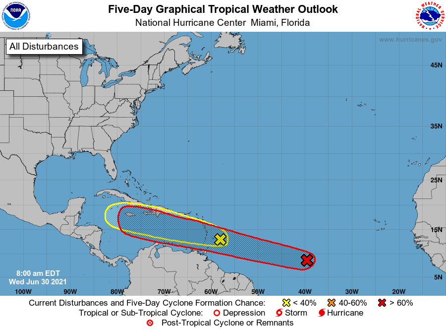 Tropical weather outlook 7am June 30