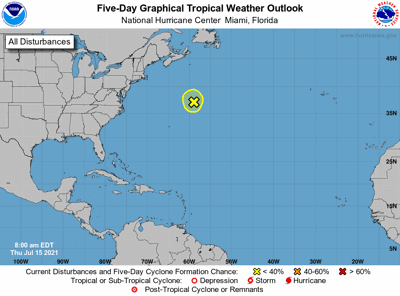 Tropical outlook 7am Thursday