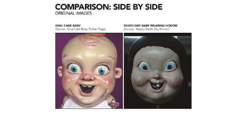 Lawsuit claims movie villain is King Cake Baby's evil twin