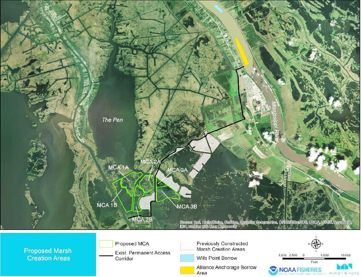 Upper Barataria marsh creation project