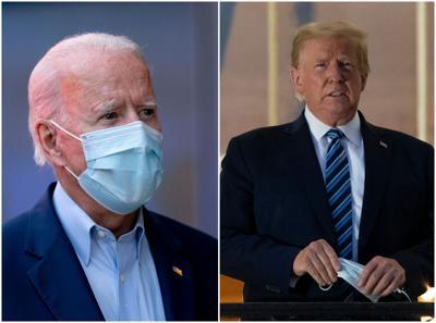 Biden Trump collage