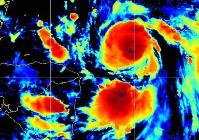 Hurricane Delta 10 pm Oct 5