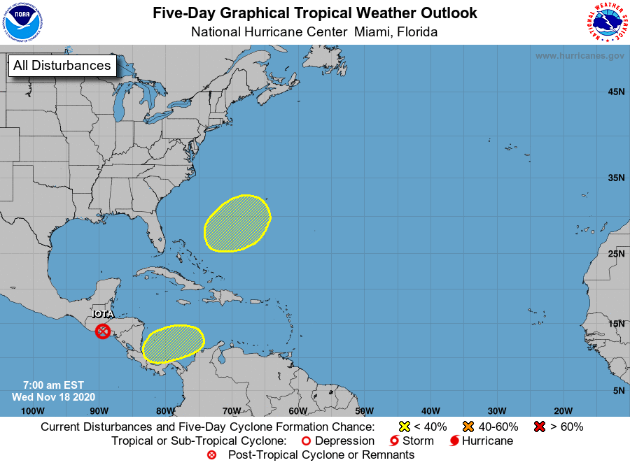 Tropical weather outlook 9am Wednesday