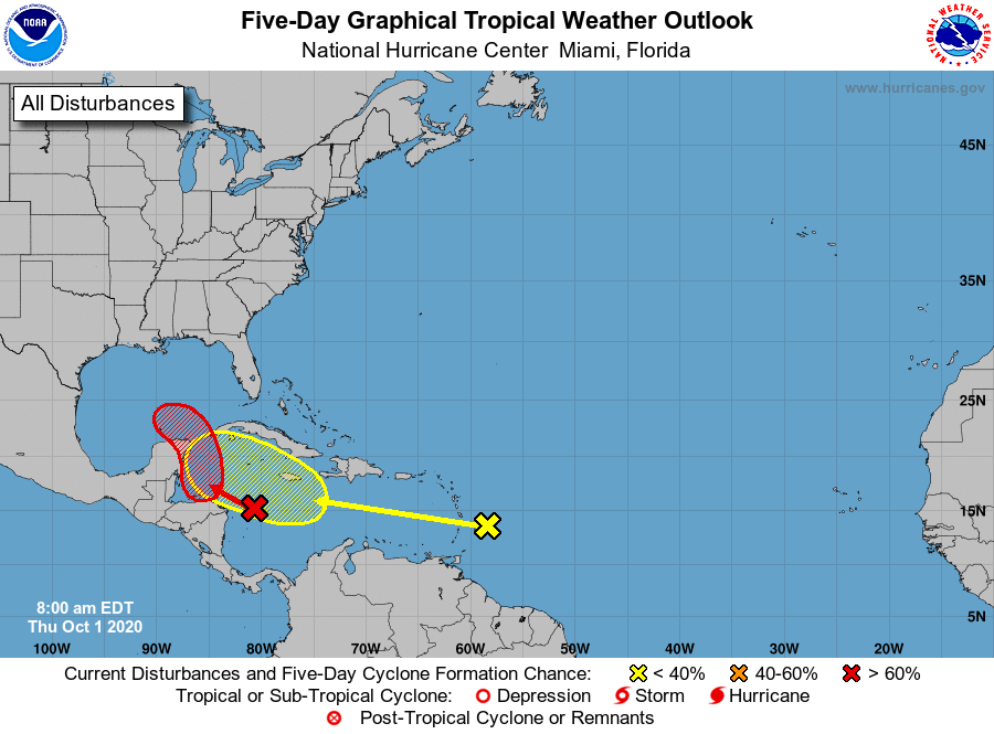 Tropical weather outlook 7am Thursday