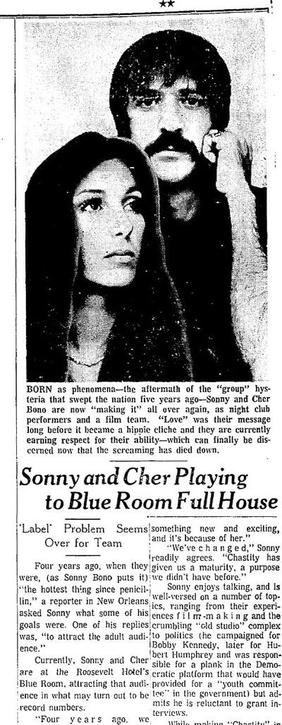 Cher was just 19 the first time she sang in New Orleans