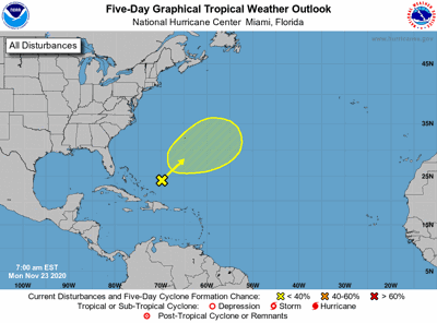 Tropical weather outlook 7am Monday