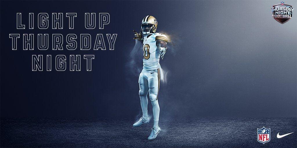 New Orleans Saints unveil all-white uniforms for NFL's Color Rush ...