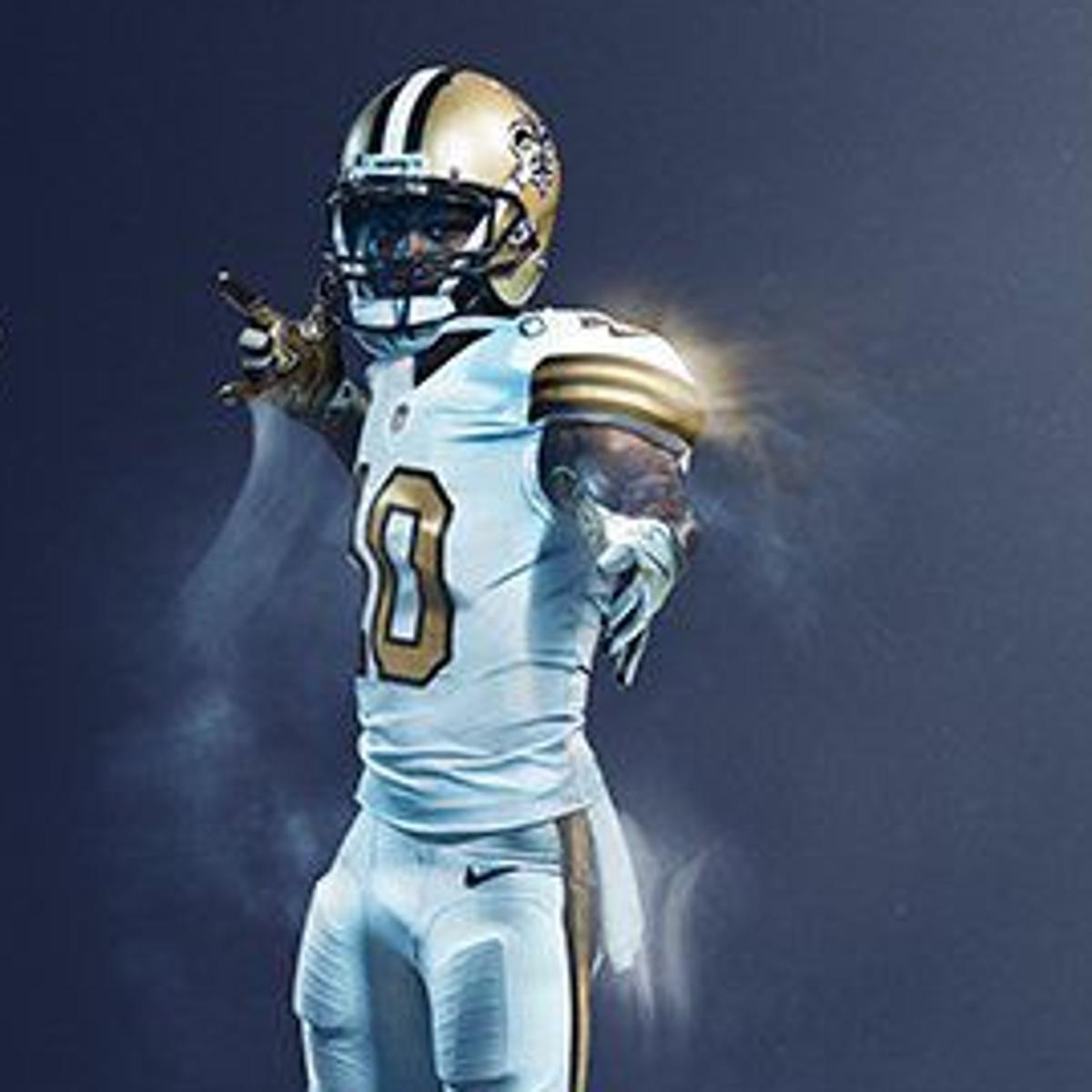 new style 748d5 0e75d New Orleans Saints unveil all-white uniforms for NFL's Color ...