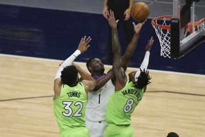 Pelicans Timberwolves Basketball