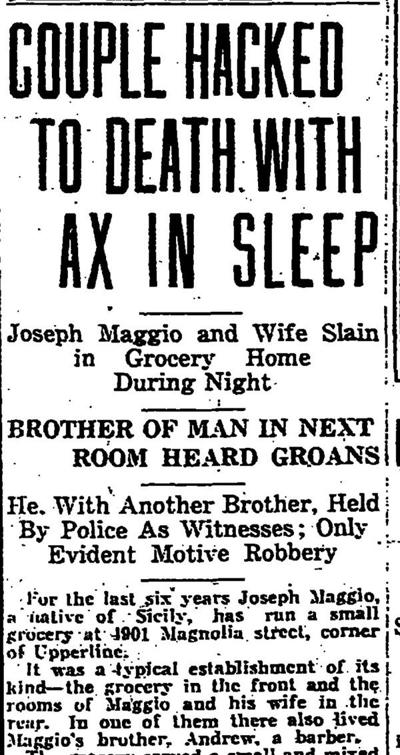 'A peculiar turn' in the Axeman investigation of 1918