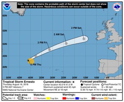 Tropical Storm Ernesto forms in North Atlantic | Weather | nola.com