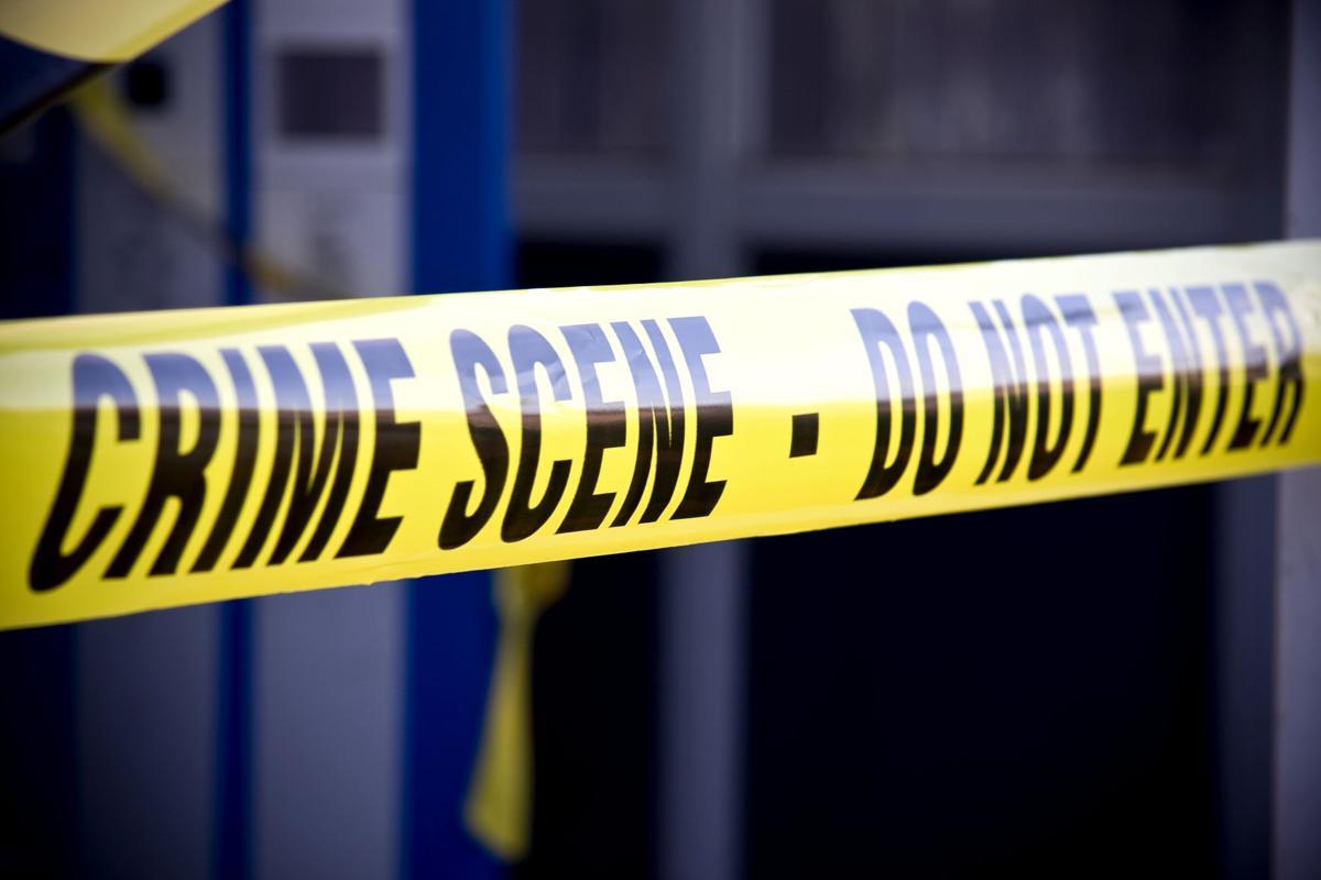 Police crime scene tape daylight crime file