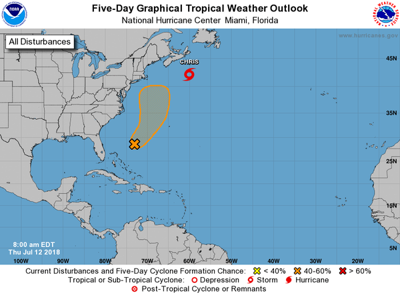 Remnants of Hurricane Beryl likely to move north into Atlantic