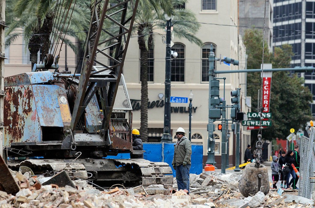 Woolworth's store in New Orleans is demolished, site of the 1960 first locally organized lunch counter sit-in