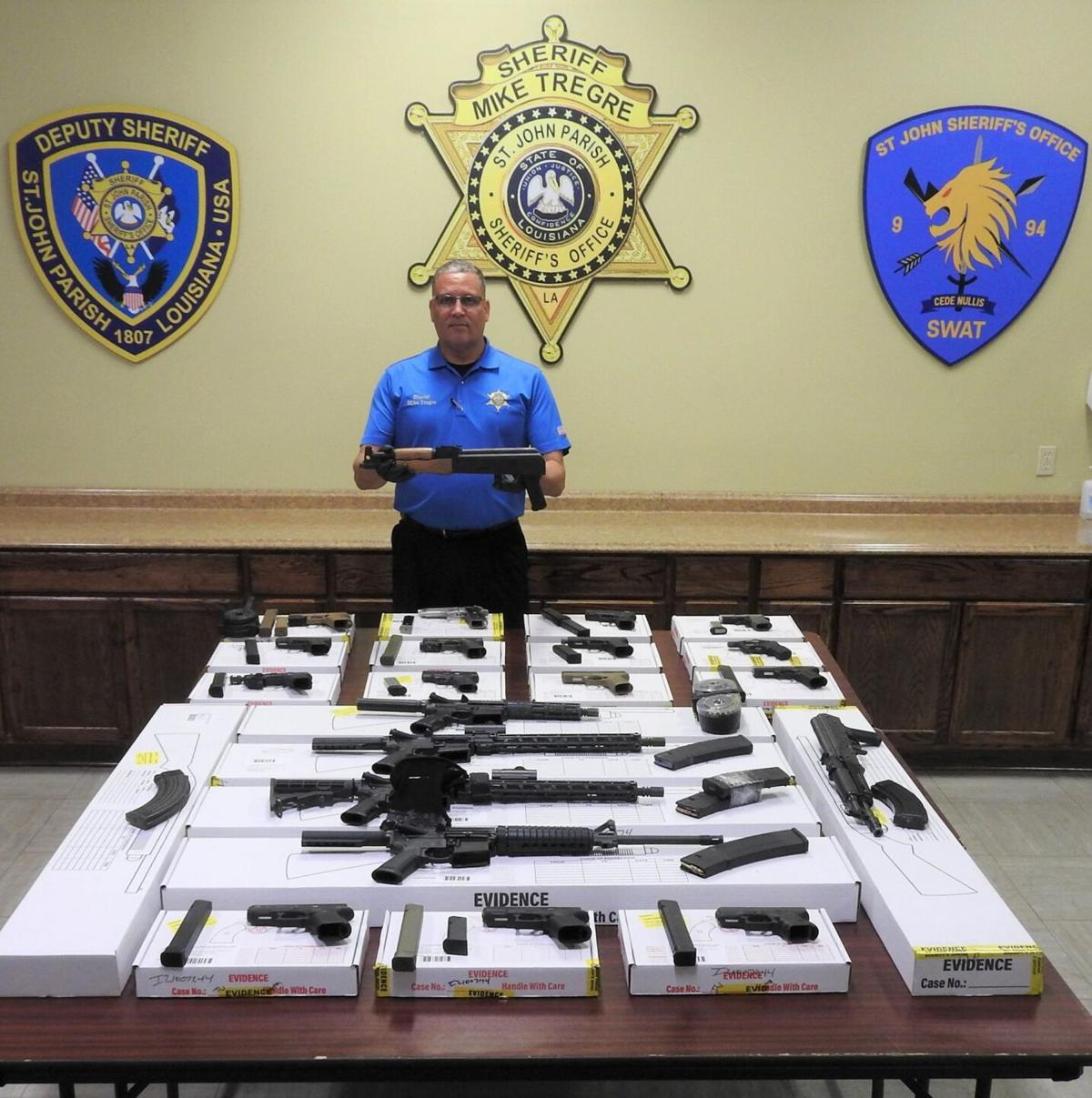 Confiscated guns in St. John