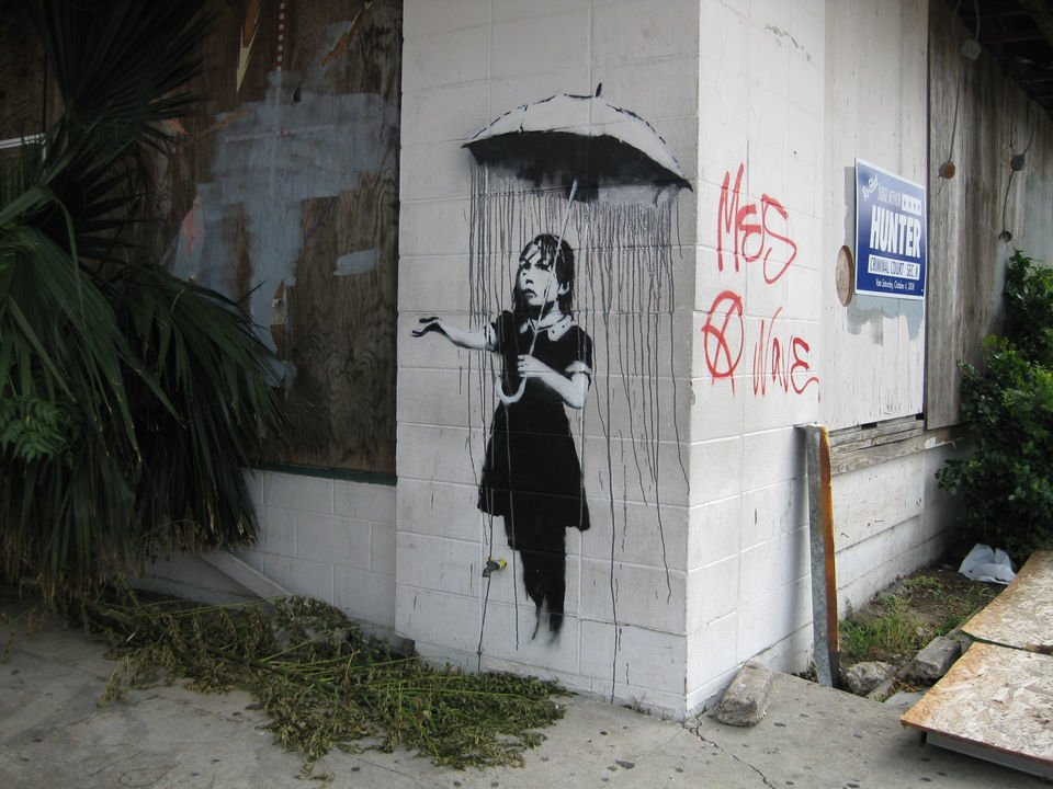See 11 of Banksy's New Orleans paintings from 2008