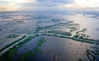 Land loss wetlands photo