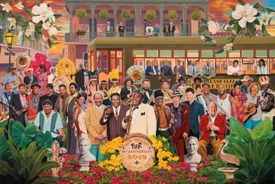 The 2019 Jazz Fest poster includes everyone from Buddy Bolden to Big Freedia