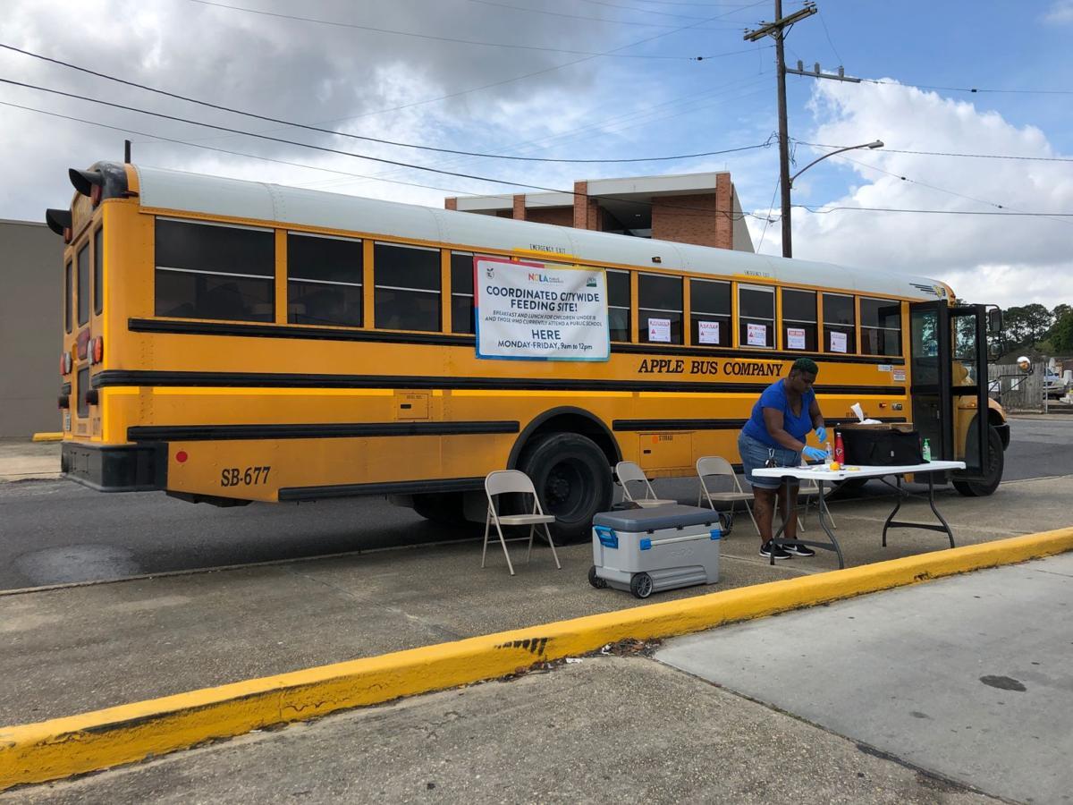 Lunch handout in Orleans Parish