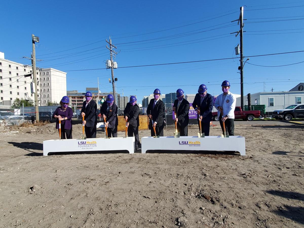 Groundbreaking ceremony for LSU's first new student housing in New Orleans in more than 50 years