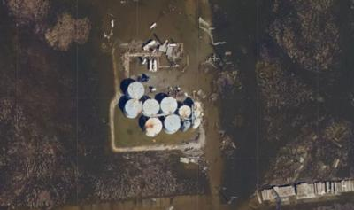 White Oak wellhead facility after Delta