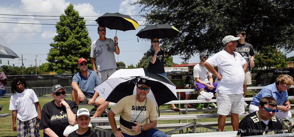 At New Orleans Saints training camp, women fans get a closer look