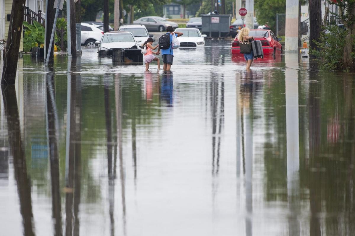Flooding near Xavier in 2019
