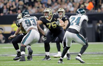 Saints left guard Andrus Peat had hand surgery during bye week