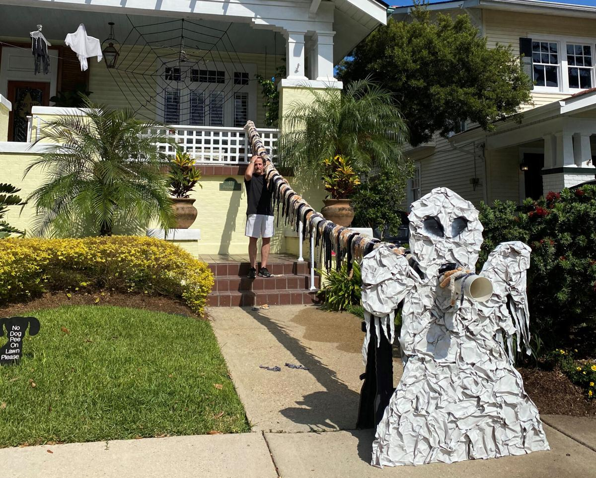 David Briggs has invented a way to deliver candy to trick-or-treaters this Halloween while practicing safe social distancing.jpg