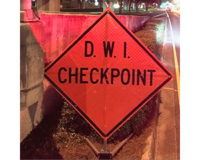 dwi checkpoint sign