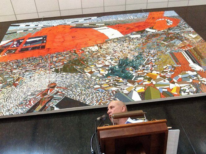 Coast Guard rescued 33,500 people during Katrina, and inspired one big painting