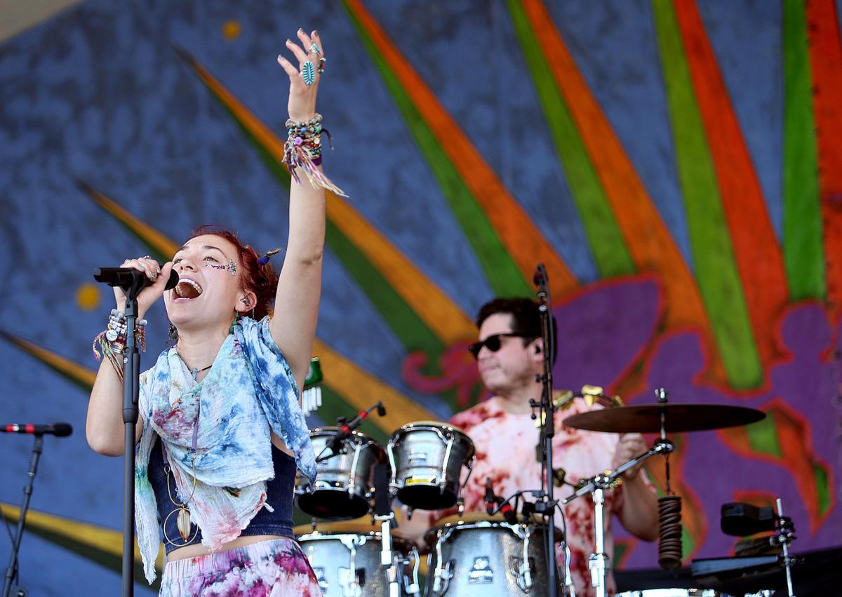 Lauren Daigle performs on the Gentilly Stage at Jazz Fest