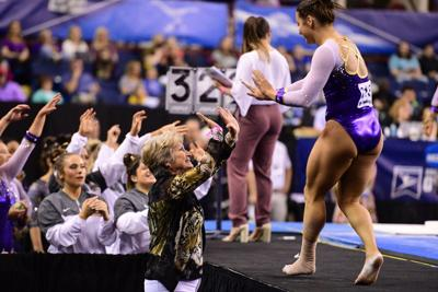 LSU rallies behind assistant coach to advance to gymnastics' Final Four