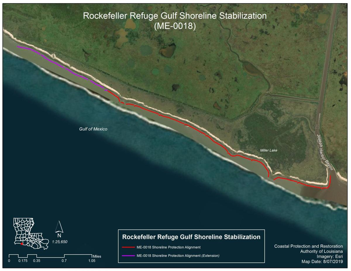Rockefeller shoreline stabilization map