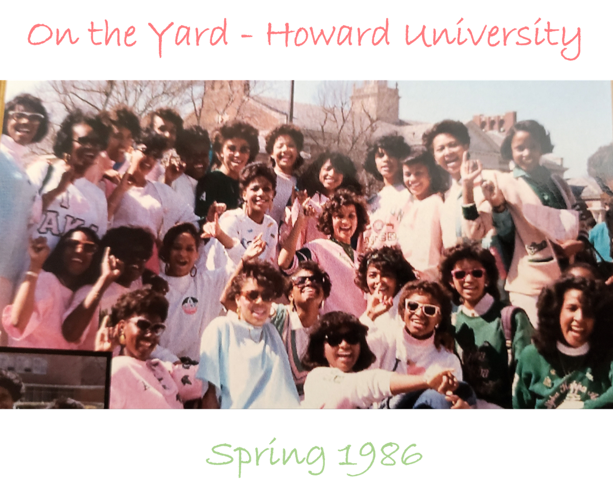Kamala Harris with AKA sisters at Howard University, 1986