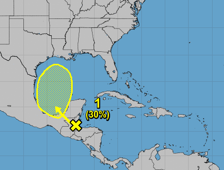 Tropical disturbance heading for Gulf 1pm Sept 3