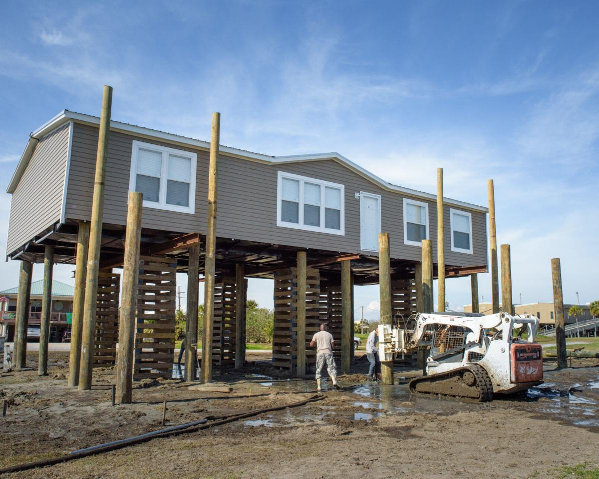 Elevated house on Grand Isle