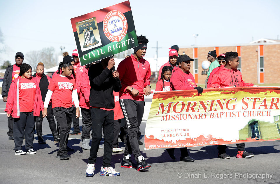 West Bank Martin Luther King Day parade: see photos