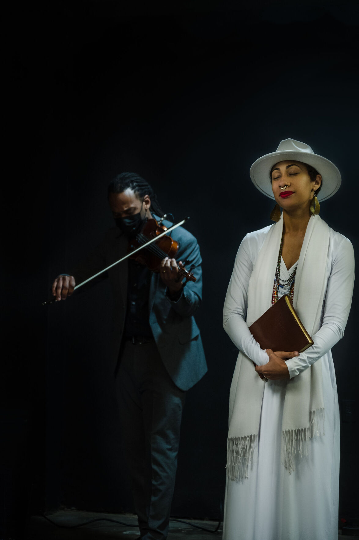 T-Ray the violinist and Sunni Patterson