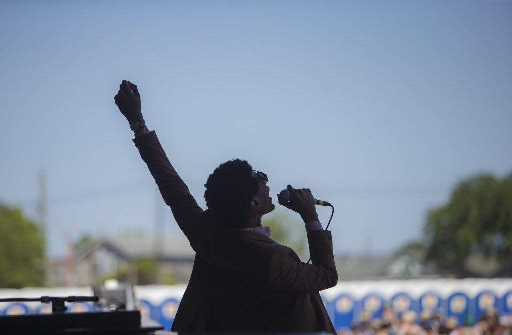 Jon Batiste and the Dap-Kings wowed the crowds at Jazz Fest