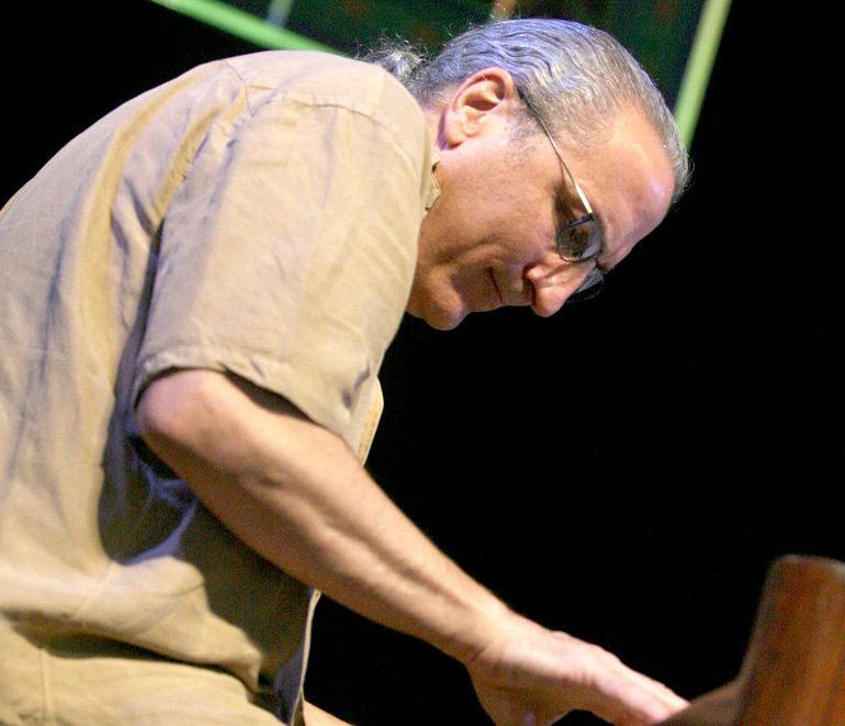 Ed Volker had them dancing at New Orleans Jazz Fest's Lagniappe Stage