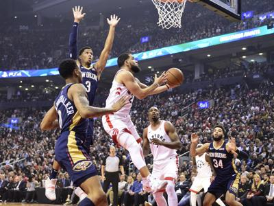 Pelicans Raptors Basketball