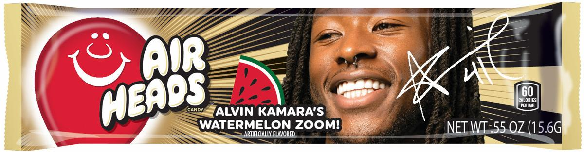 Saints' Alvin Kamara gets personalized Airheads flavor