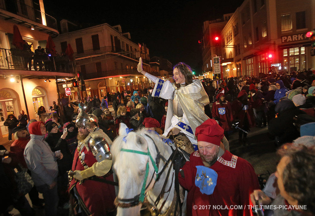 How did Joan of Arc conquer the first day of Mardi Gras?